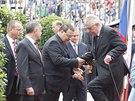 Prezident Miloš Zeman přivítal na Pražském hradě nedávno zvoleného slovenského...