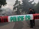 Policie, hasiči a záchranka u domu ve Slivenecké ulici v Hlubočepích, kde došlo...