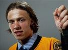 David Pastr��k kr�tce po draftu v NHL, kde si ho vybral Boston Bruins