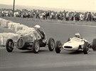 Cisitalia zpátky v původní podobě v roce 1962 na brněnské Grand Prix, za...