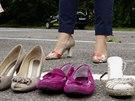 Test brzdění v různých druzích obuvi