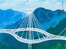 Architektonické návrhy v severokorejské expozici na benátském bienále - most