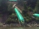Šest trupů letadel Boeing 737 bylo poškozeno při nehodě vlaku v americké...