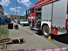 Hasiči v Brně zasahovali u masivního úniku plynu.