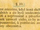 § 10 Služební instrukce pro četnictvo