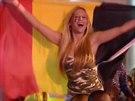 Radost belgických fotbalových fanoušků. (2. července 2014)