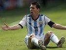 Argentinský útočník Lionel Messi se ve čtvrtfinále MS diví.