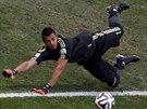 Argentinský gólman Sergio Romero ve čtvrtfinále MS.