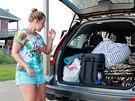 Turisté museli na příkaz úřadů opustit letoviska v Severní Karolíně. (3....