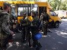 Proru�t� separatist� po �stupu ze Slavjansku opustili rovn� sv� pozice v