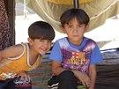 Běženci z boji zmítané irácké provincie Dijála našli provizorní úkryt v