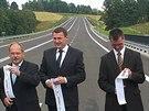 Slavnostn� otev�en� silnice z B�l�ho Kostela do Hr�dku nad Nisou na Liberecku.