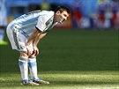 Argentinský fotbalista Lionel Messi během osmifinále mistrovství světa