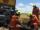 Řidič vjel na Přerovsku na přejezd ve chvíli, kdy k němu přijížděl vlak. Po...