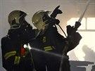 Velký požár stolárny v Bystročicích na Olomoucku napáchal škody za zhruba dva...
