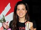 Tereza Huříková se světovým bronzem z maratonu na horských kolech.
