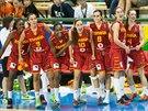 Španělské basketbalistky se radují z postupu do finále MS do 17 let.