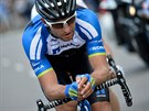 �esk� cyklista Jan B�rta b�hem dlouh�ho �niku b�hem t�et� etapy Tour de France.
