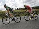 Thomas Voeckler (vlevo) a Louis Angel Mate Mardones se ve čtvrté etapě Tour de...