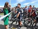 VÝJIMEČNÝ ÚVOD. Před 1. etapou Tour de France rozmlouvala s cyklisty i Kate...
