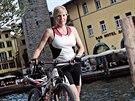 Kateřina Neumannová v italském městě Riva del Garda