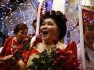 Bývalá první dáma Imelda Marcosová slaví 85.  narozeniny (Filipíny, 2. července...