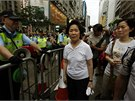 Demonstrace se zúčastnila i bývalá generální tajemnice Anson Chanová (1. 7.