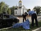 Doněcká policie vyšetřuje případ policisty zavražděného údajně proruskými