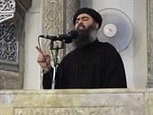 V�dce Isl�msk�ho st�tu Ab� Bakr Bagd�d� promluvil v me�it� v severoir�ck�m...