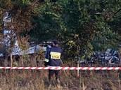 Pád letadla u polské Čenstochové nepřežilo 11 lidí (5. července 2014).