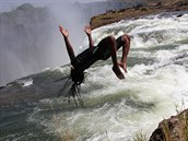 Devil's Pool, Victoriiny vodop�dy, Zambie