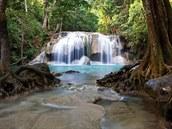 Vodopády Erawan, Erawan National Park, Thajsko