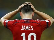 VYŘAZEN. Kolumbijský útočník James Rodriguez dal svůj šestý gól na mistrovství...