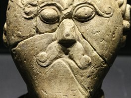Hlava Kelta. Stáří sochařského díla se odhaduje na až 2300 let.