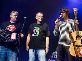Rock for People 2014: Zakladatelé festivalu Petr Fořt a Michal Thomes s...