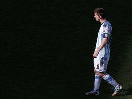 Argentinský kapitán Lionel Messi během osmifinále mistrovství světa