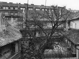 Pohled do dvora Konviktu před rekonstrukcí