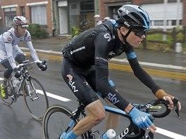 Chris Froome po svém prvním pádu v páté etapě Tour de France