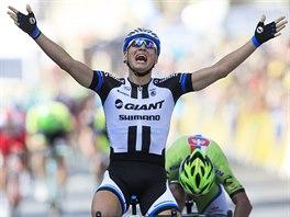 Německý cyklista Marcel Kittel, vítěz 1. etapy Tour de France