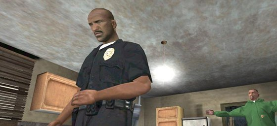 Tenpenny (vlevo) v Grand Theft Auto. Postavu namluvil Samuel L. Jackson.