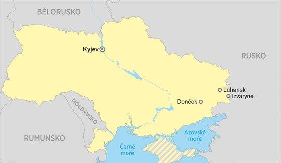 Mapa Izvaryne