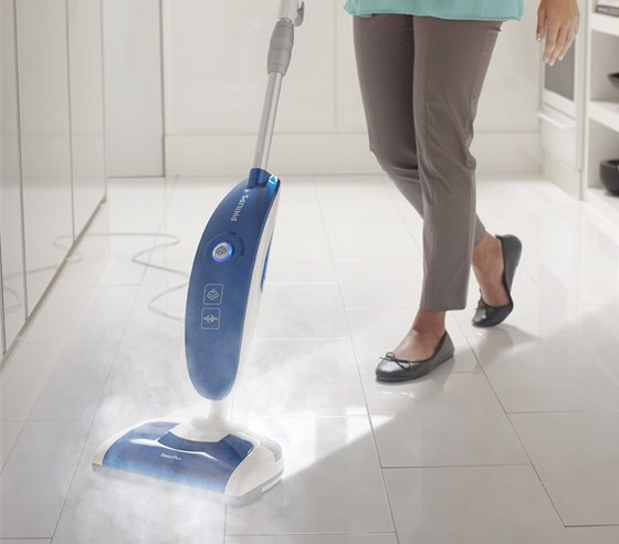 Parn� mop Philips SteamPlus FC7020 - parn� �i�t�n� se spou�t� automaticky,