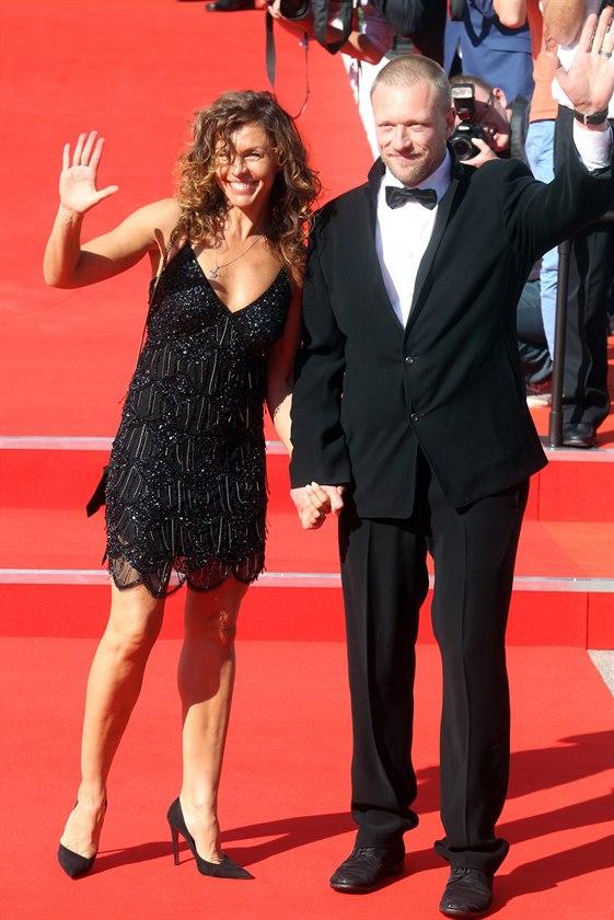 Eva Jeníčková a Viktor Tauš na MFF KV (Karlovy Vary, 12. července 2014)