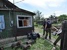 Ruští specialisté vyšetřují explozi ukrajinského granátu v ruském městečku...
