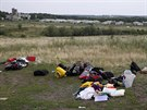 Zavazadla cestujících z malajsijského boeingu, který se zřítil na Ukrajině (18....