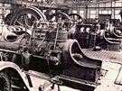 Interiér elektrické ústředny v roce 1921.