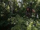 Proruský separatista z Batalionu Vostok na své pozici v Doněcku (10. července...