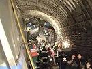V Moskvě vykolejilo metro (15. července 2014).