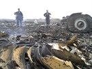 Místo pádu malajsijského letadla nad východní Ukrajinou (17. července 2014).