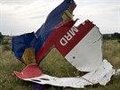 ��st malajsijsk�ho letounu, kter� byl sest�elen na v�chod� Ukrajiny (19....